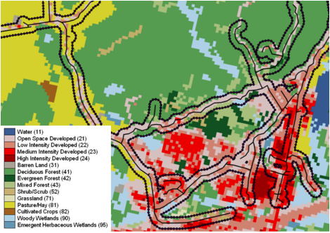Map of land use